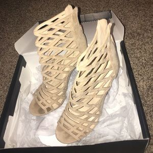 Natural colored high heels